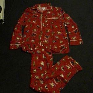 Old navy man red dog print pajama size L